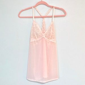Other - 🌷Lingerie   Pale Pink Lingerie Racerback Top